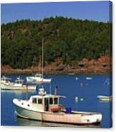Boats At Bar Harbor Canvas Print
