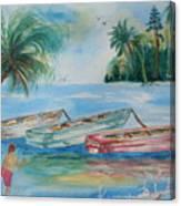 Boats At Casey Key Canvas Print