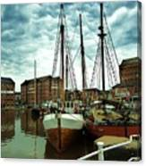 Boats At Gloucester Docks Canvas Print