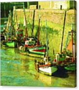 Boats At Honfluer France Canvas Print
