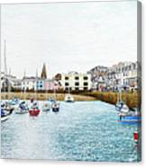 Boats At Ilfracombe Harbour Canvas Print