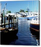 Boats At Orental Canvas Print