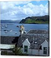 Boats At Portree Canvas Print
