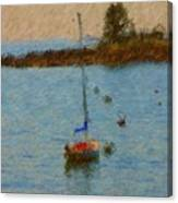 Boats At Smugglers Cove Boothbay Harbor Maine Canvas Print