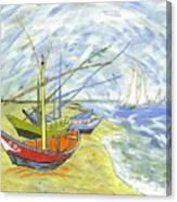 Boats At St. Maries Canvas Print