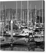 Boats At The Bay Canvas Print