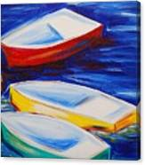 Boats At The Dock Canvas Print