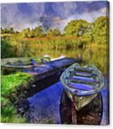 Boats At The Lake Canvas Print