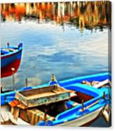 Boats In Autumn Canvas Print