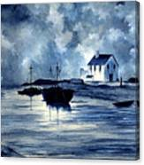 Boats In Blue Canvas Print