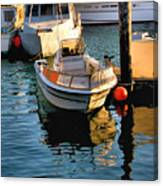 Boats In Morro Bay California Canvas Print