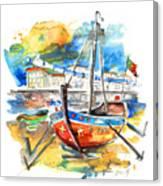 Boats In Tavira In Portugal 02 Canvas Print