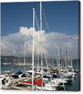 Boats In Port Tuscany Canvas Print