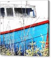 Boats In The Garden Canvas Print