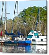 Boats In The Water Canvas Print