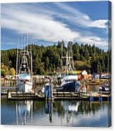 Boats In Winchester Bay Canvas Print
