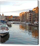Boats Of Amsterdam Canvas Print