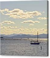 Boats On Lake Champlain Vermont Canvas Print