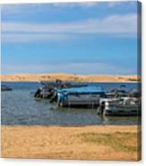 Boats On Silver Lake Michigan Canvas Print