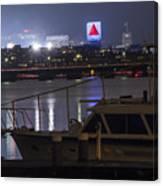 Boats On The Charles River Citgo Sign Boston Massachusetts Canvas Print