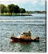 Boats - Police Boat Norfolk Va Canvas Print