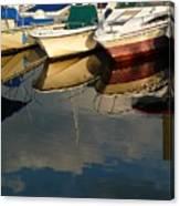 Boats Reflected Canvas Print