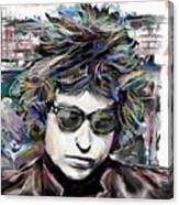Bob Dylan Art Canvas Print
