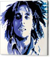 Bob Marley - Blue Canvas Print