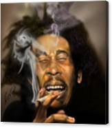 Bob Marley-burning Lights 3 Canvas Print