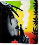 Bob Marley Smoking Canvas Print