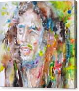 Bob Marley - Watercolor Portrait.17 Canvas Print