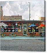 Bobs Downtown Diner Front Door Canvas Print