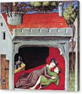 Boccaccio: Lovers, C1430 Canvas Print