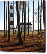Bodie Island Light Through The Pines Canvas Print