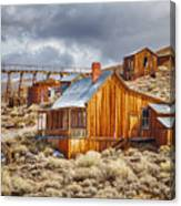 Bodie Stamp Mill, Sunrise With A Dusting Of Snow Canvas Print