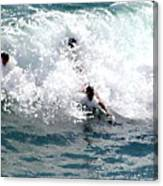 Body Surfing The Ocean Waves Canvas Print