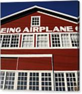 Boeing Airplane Hanger Number One Canvas Print