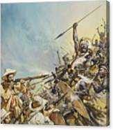 Boers Fighting Natives Canvas Print