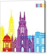 Bogota Skyline Pop Canvas Print