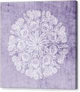 Boho Floral Mandala 1- Art By Linda Woods Canvas Print