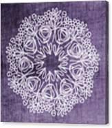 Boho Floral Mandala 2- Art By Linda Woods Canvas Print