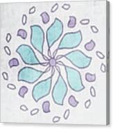 Boho Floral Mandala 4- Art By Linda Woods Canvas Print