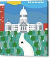 Boise Idaho Vertical Skyline Canvas Print