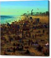Bokeh Beach Canvas Print