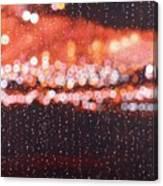 Bokeh - Rainy Night On Mercer Street Canvas Print