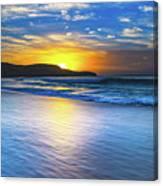 Bold And Blue Sunrise Seascape Canvas Print