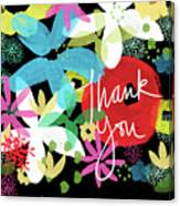 Bold Floral Thank You Card- Design By Linda Woods Canvas Print