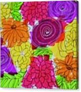 Bold Flowers Canvas Print