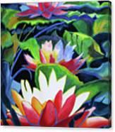 Bold Lilypads Canvas Print