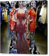Bold Mannequins Fashion Display In Palma Majorca Spain Canvas Print
